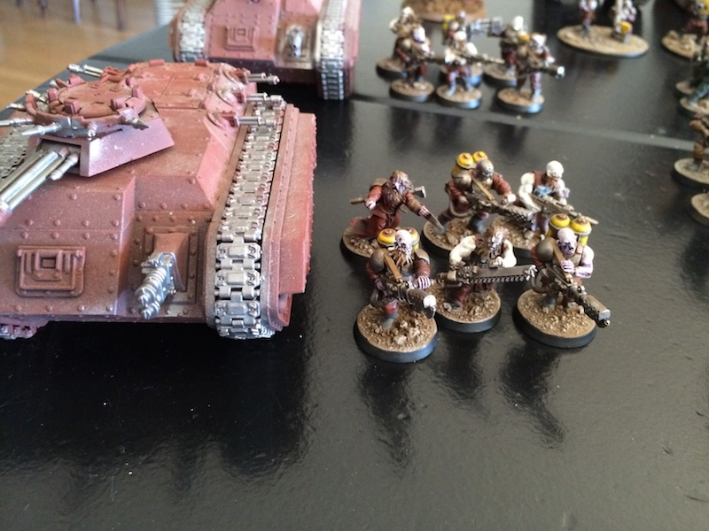 Blood's pact Flamer squad #1 and Chimera