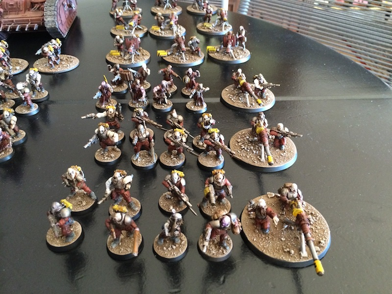 Blood's pact infantry squads with autocannons
