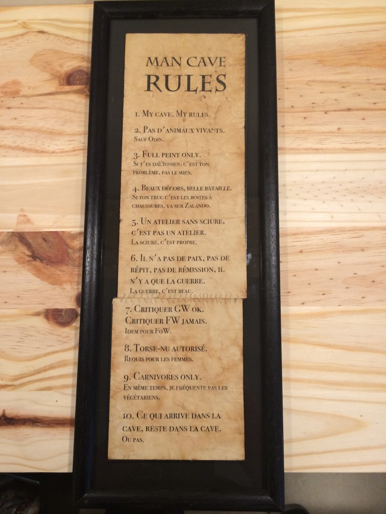 The Rules of my wargame Man Cave (the original version, in French)